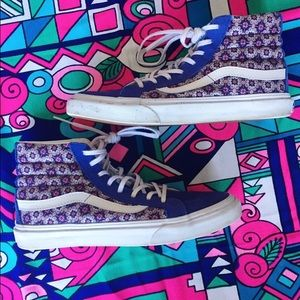 Vans Sk8-Hi High Top Sneakers Purple Suede Print 7